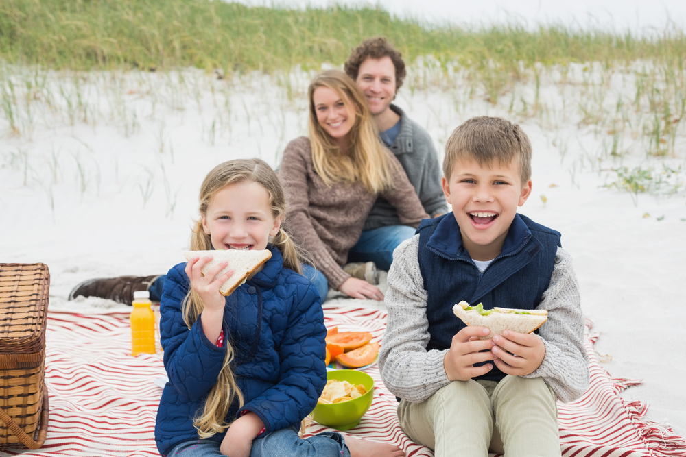 picture of picnic on beach